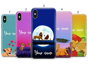 226af40ffa932a PERSONALIZED Lion King Disney cartoon phone case cover for iphone 5 6 7 x  samsung s9 s10 j6 huawei p20 p20 pro