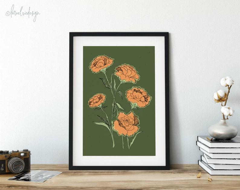Carnations Giclée Fine Art Print flower art flower image 0