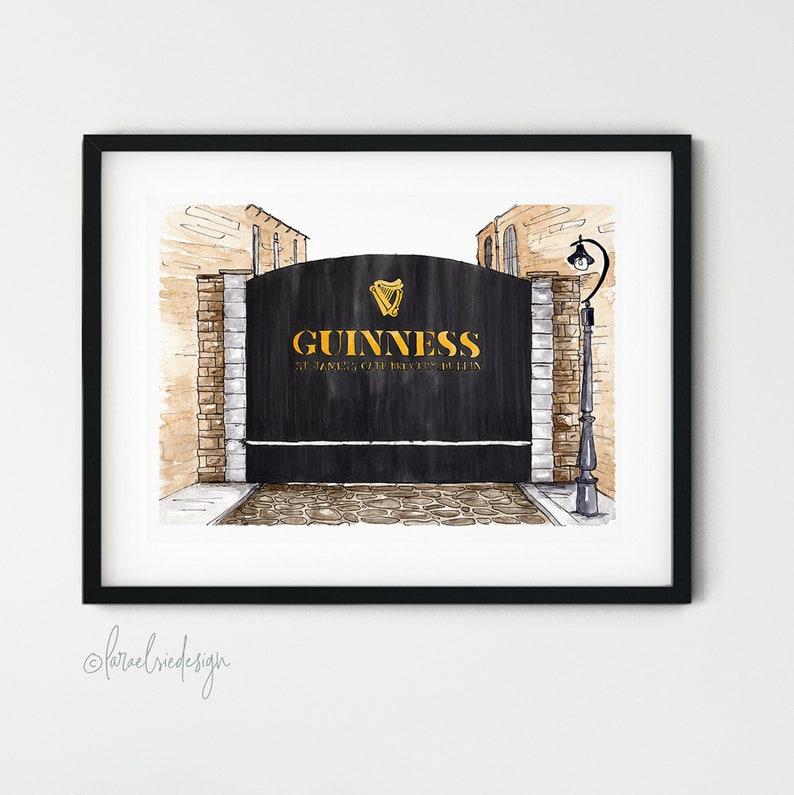Dublin Landmark Guinness Gates Giclée Fine Art/Uncoated Card image 0