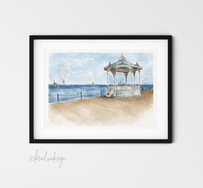 Dun Laoghaire Pier Bandstand Dublin Ireland Giclée Fine Art image 0