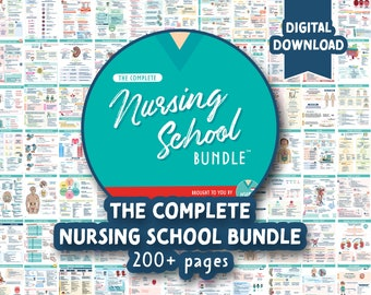 The Complete Nursing School Bundle™  | 200+ Pages | Digital Download