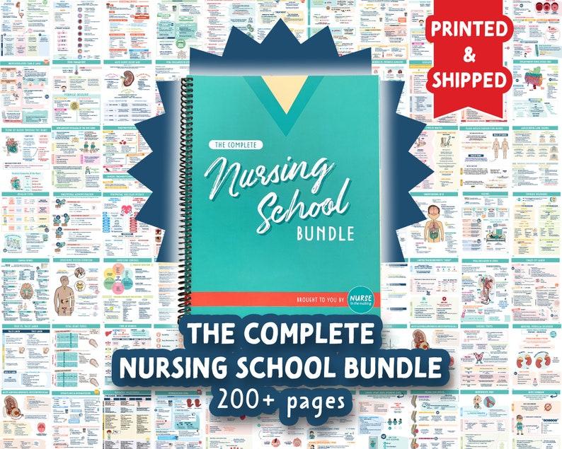 The Complete Nursing School Bundle™   200 pages   PRINTED & image 1