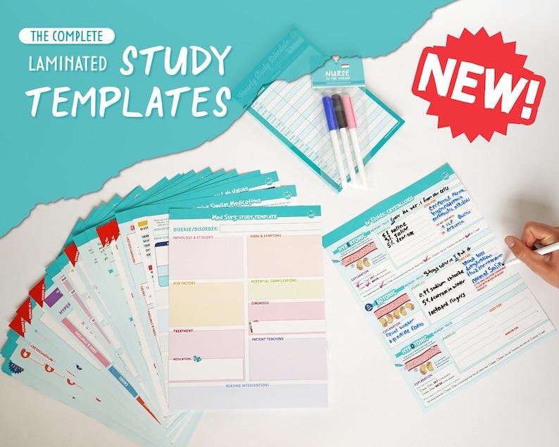 The Complete Laminated Study Templates  Nursing School image 1