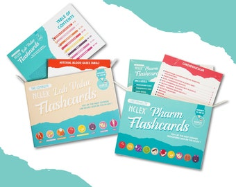 Flashcard Pack - Pharmacology & Lab Value Flashcards