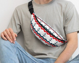 shoulder bag Belt bag carrying bag with golden maritim anchor sailor sailor design for coastal children belly bag hip bag