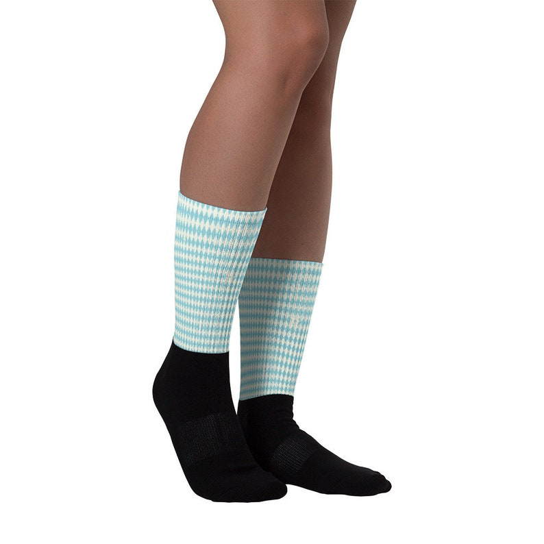 foot warmers winter socks stockings summer socks with blue white checkered motif as a gift idea for men and women Oktoberfest socks