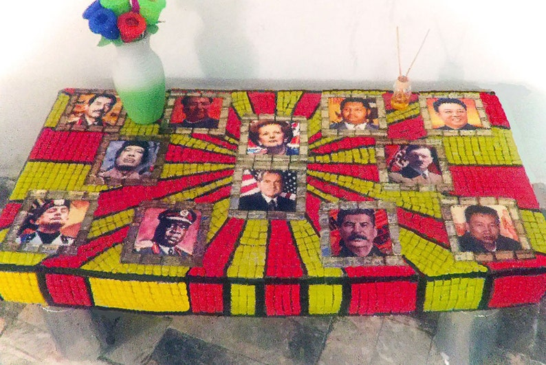The Dictator Table Super Kitsch & Utterly Unique Mosaic Pop image 0