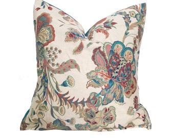 Floral cushion cover, bohemian pillow cover