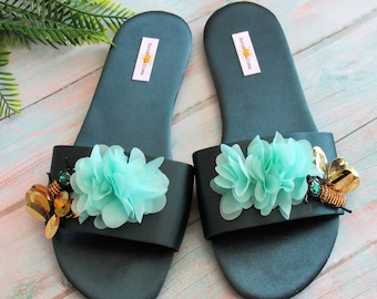 8fcbb3622915b Olive green sandals | Etsy
