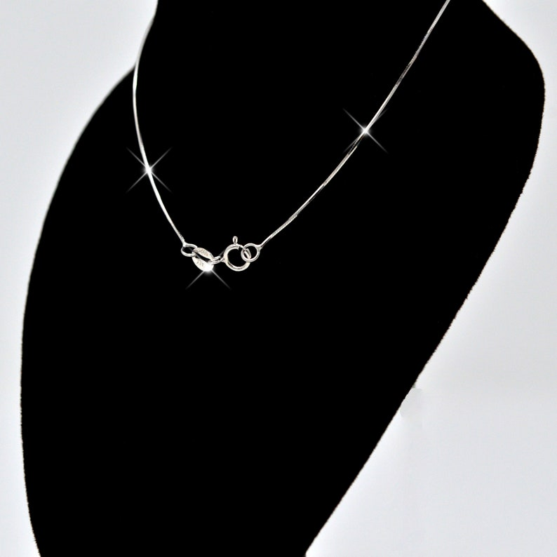 Snake-Style REAL SOLID SILVER .925 Sterling Silver Chain Necklace Italy Classic Jewelry