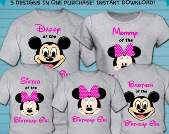 6a1289ac Family Set / Minnie Mouse Iron On Transfer Designs / Minnie Mouse Family  Bundle Shirt Design / Minnie Mouse Family Shirt / Instant Download