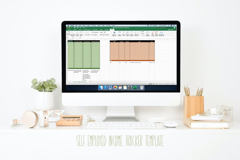 Self-Employed Income Tracker Template image 0