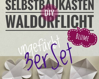 DIY 3er Set Waldorflicht Blume ungefärbt Selbstbaukasten