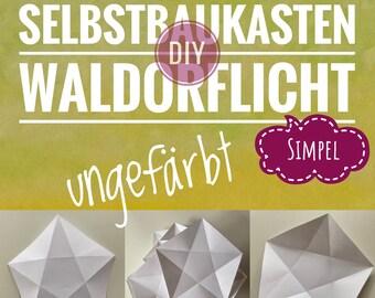 DIY Waldorflicht Simpel ungefärbt Selbstbaukasten