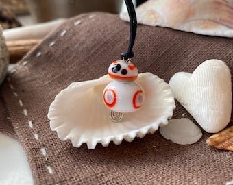 Star Wars Fans aufgepasst: Anhänger BB8 aus Glas