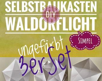 DIY 3er Set Waldorflicht Simpel Selbstbaukasten