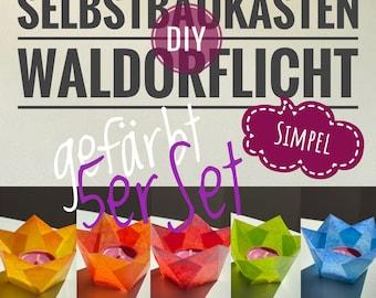 DIY Waldorflicht Simpel 5er Set Selbstbaukasten