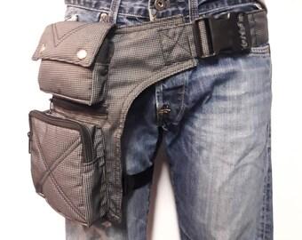 """Kidney/Bandolera/Faltriquera model """"Victor"""" unisex. Travel bag. Hip Bag. Holster bag. Leg bag. Adjustable Strap. Synthetic material"""