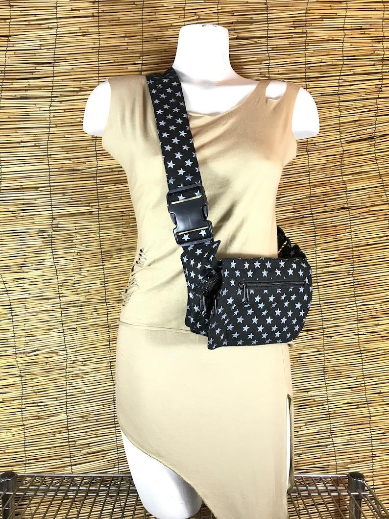 Travel bag Cotton Canvas. Holster bag Adjustable strap Unisex PouchShoulder bagpouch or bag Hip Bag