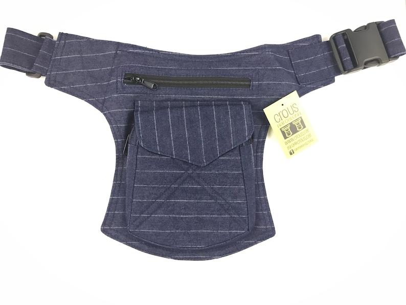 Holster bag Hip Bag Cotton Canvas. Adjustable strap Fanny PackShoulder bagpouch or bag model Stiching unisex Travel bag
