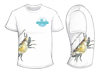 Velvet swimmer crab - Rock Pool Project - Wildlife Spotters T Shirt