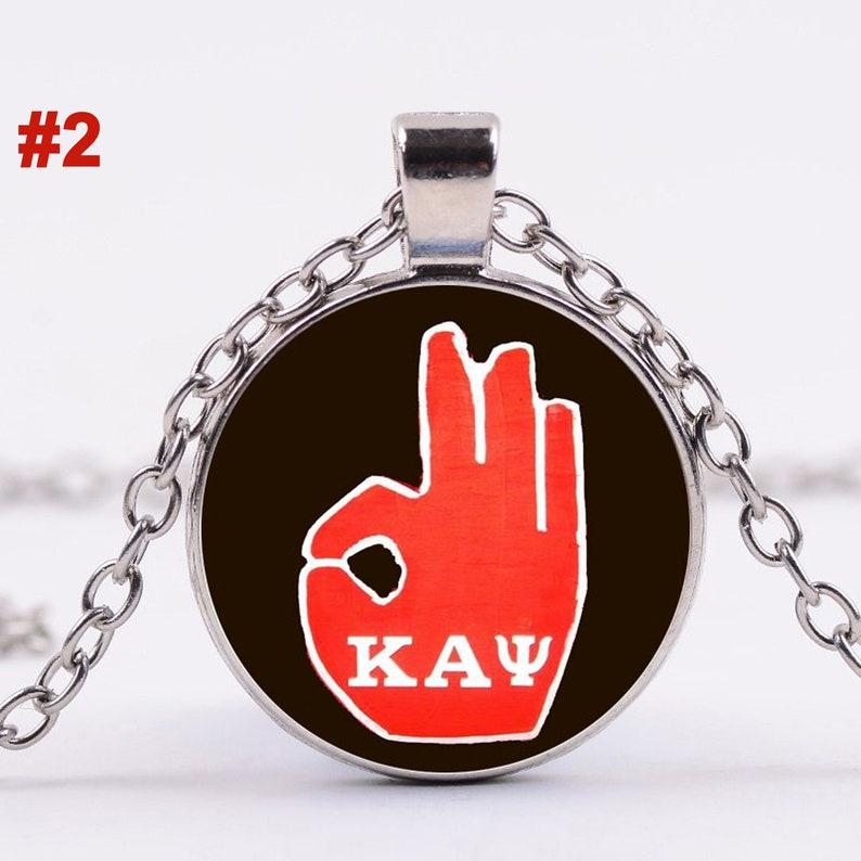 Kappa Alpha Psi Fraternity Glass Dome Pendant Necklace