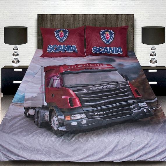 3d Luxurious Scania 4pcs Bedding Set, Scania Bedding Set