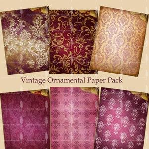 PRINTABLE Vintage Grungy Paper Pack 11x8.5 300 dpi  Instant Download 12 Scrapbook Paper Pack  Junk Journal