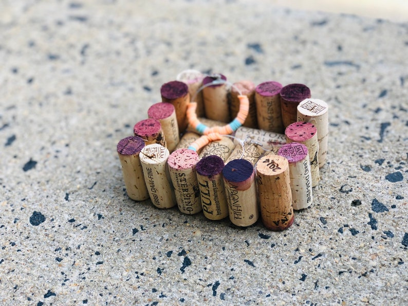 Wine Cork Ring Dish Recycled Wine Corks, Jewelry Tray