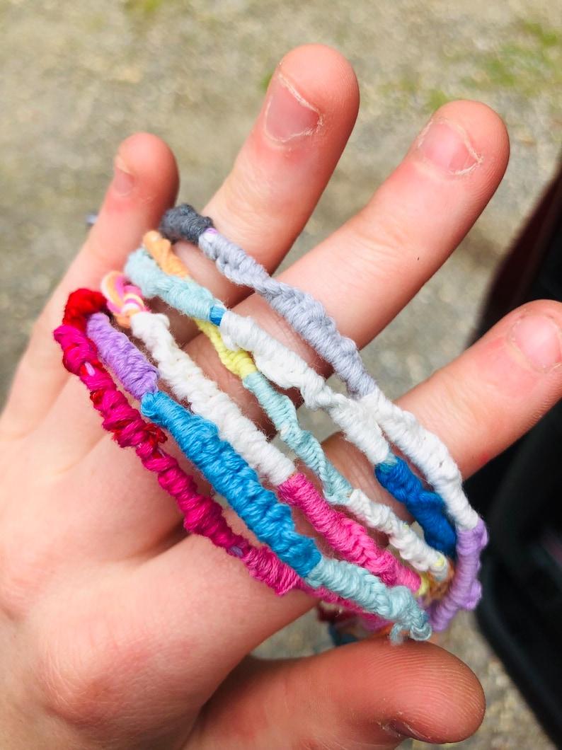 String Bracelets Thin Woven Bracelets Gift for Friend Custom Friendship Bracelets Custom Bracelets Gift for her,