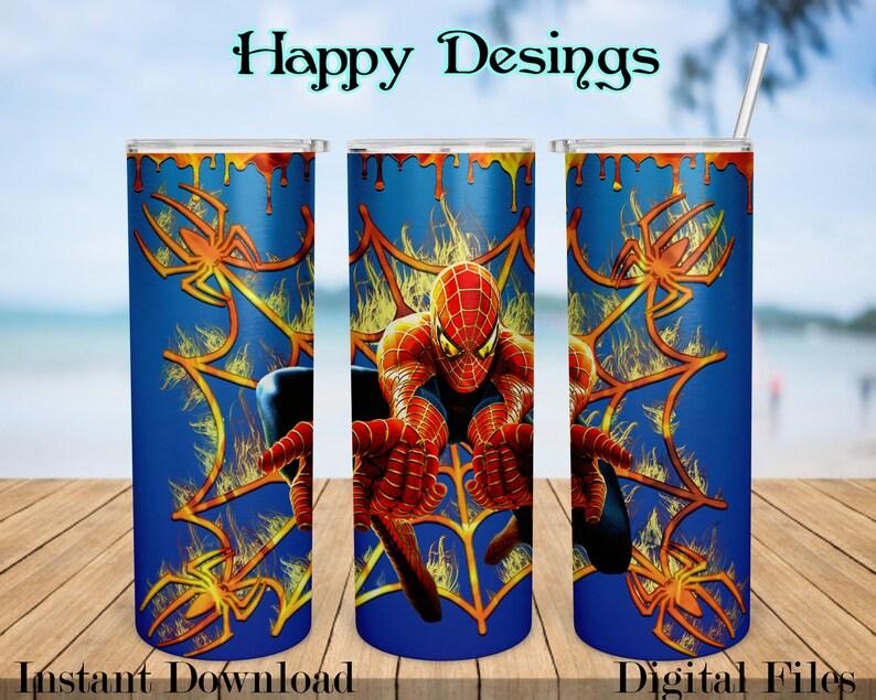 Spider-man Tumbler Skinny Tumbler 20oz Design Sublimation Designs Download Digital png