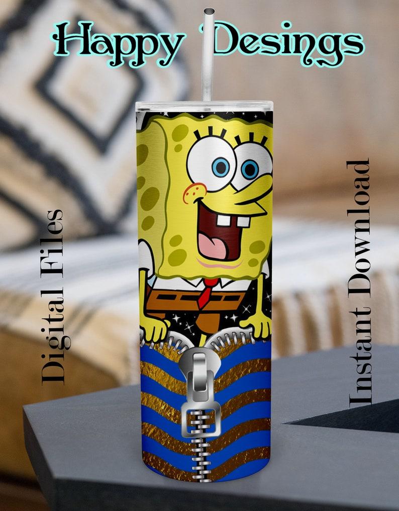 Beautiful SpongeBob Tumbler Design Digital PNG Skinny Tumbler 20oz Design