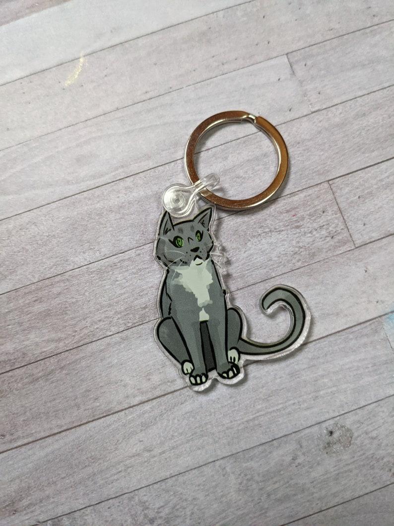 Cute Cat Keychain The Goblin King Acrylic Keychain