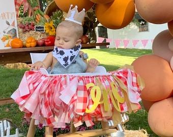 High Chair Garland, Farm High Chair Banner, First Birthday High Chair, First Birthday, Farmers Market First Birthday, Farm Birthday Party