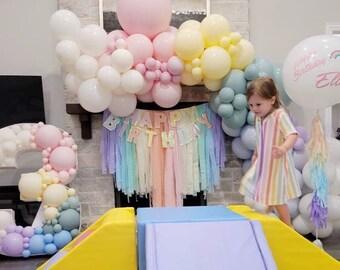 Fringe Backdrop, Rainbow, Rainbow Party Decor, Unicorn Party, Rainbow Backdrop, Pastel Rainbow, Girls Birthday, Birthday, Boho