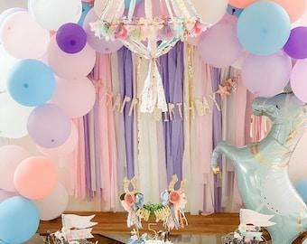 Fringe Backdrop, Fairytale Theme, Fairytale Party, Unicorn Party, Princess Theme, Girls Birthday, Girls Party Decor, Magical Theme Party