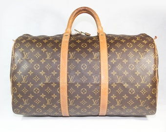 13f088d67b64 Authentic Used Louisvuitton Monogram Keepall 50   Date Code  MB0921