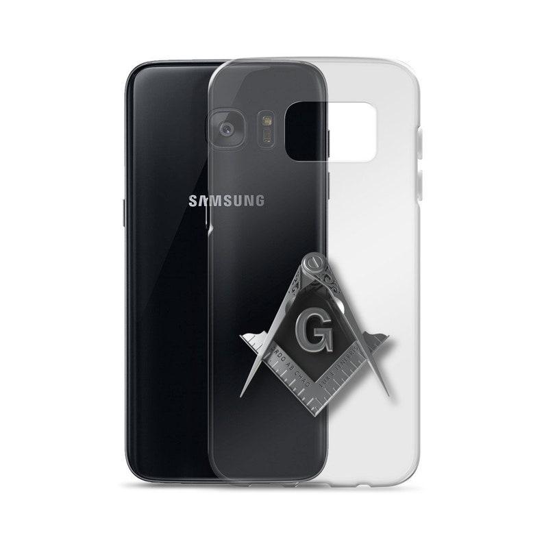 Masonic Samsung Galaxy Case Freemason Silver Square & Compass Samsung Cover