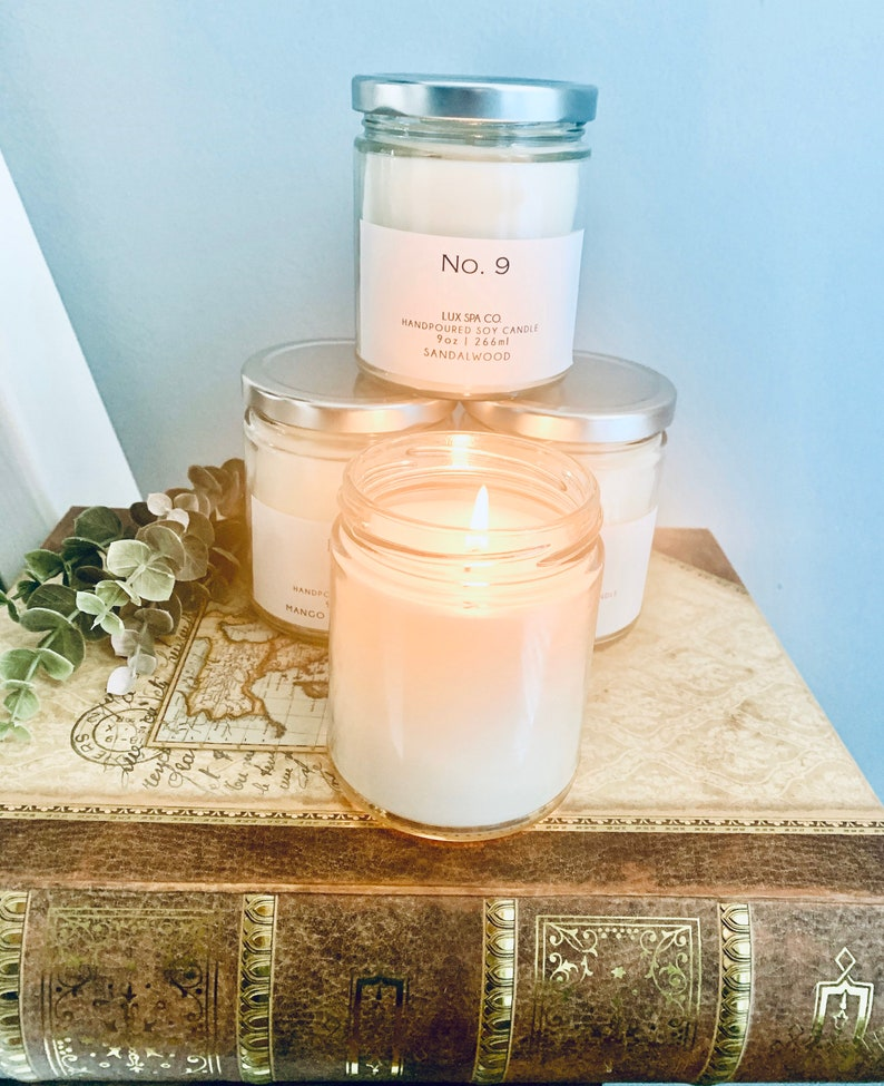 Orchid Candle Gifts for Mom Jar Candles Soy Candle Farmhouse candle Handmade Candle Clean Burning Gifts Under 20 Natural Candle