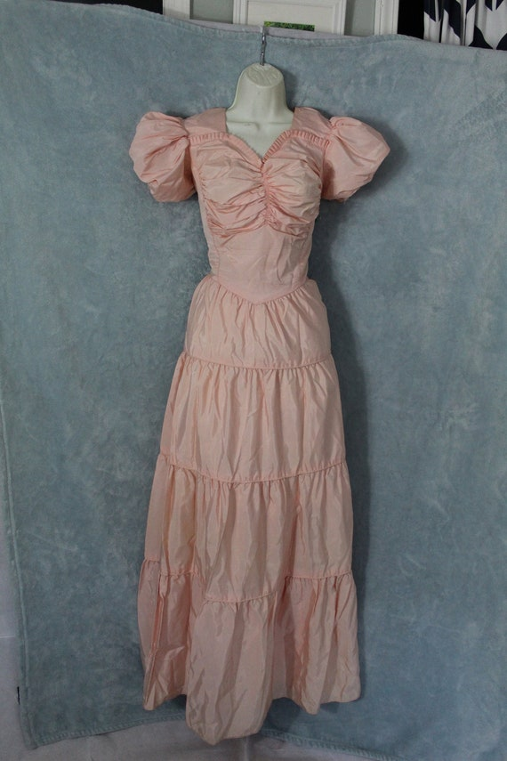 1940's pink ball gown - image 1