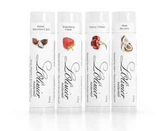 Set of 4 Mix & Match - All Natural Lip balms