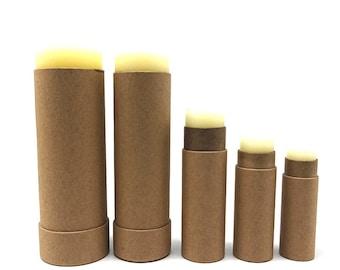 50pcs 0.3oz 0.5oz 1oz 2oz 2.5oz Cardboard Lip Balm Tube  Eco Friendly Paper Cosmetic Container Push up Kraft Tube Salve Container Deodorant