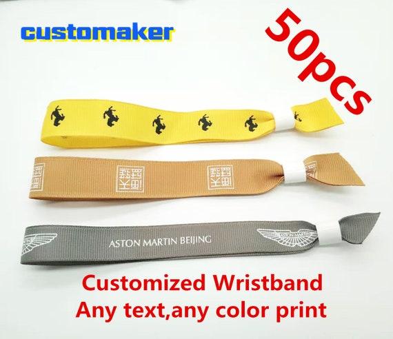 VIP Party 100pcs//lot Custom Order Fabric Woven Festival Wristbands