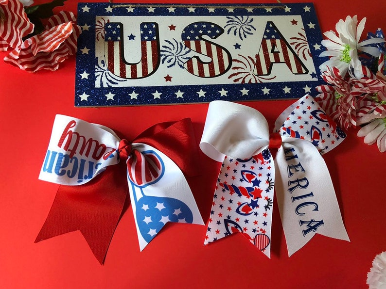 JoJo Siwa Red White Blue Unicorn Bow NEW Patriotic Independence Day 4th of July