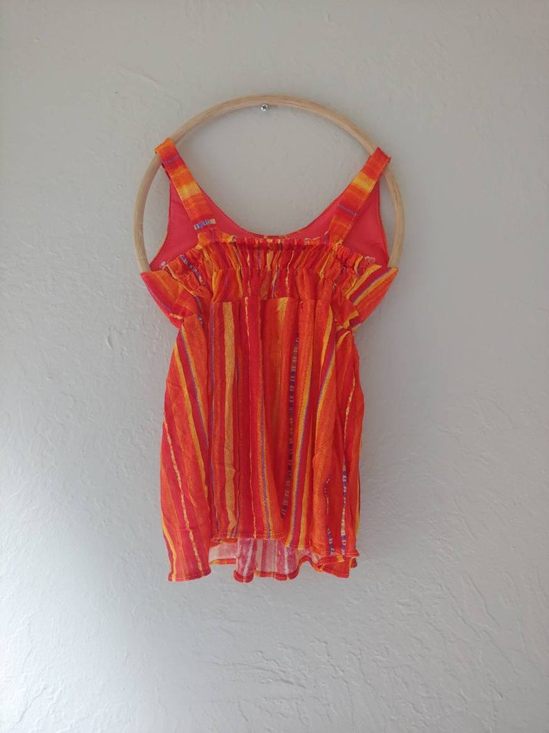 Hand-made Hawaii Lightweight Baby Girl Dress|Toddler Dress| 9-12 months old Dress.Birthday Dress.Summer Dress| Orange Sleeveless Dress