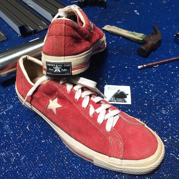 Converse One Star Red Suede 1970's