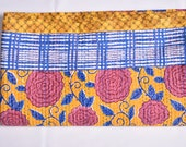 Handmade Block Printed Cotton Quilt Vintage Throw Traditional Indian throw Antique Bed Linens Cotton Linens Boutis Quilt