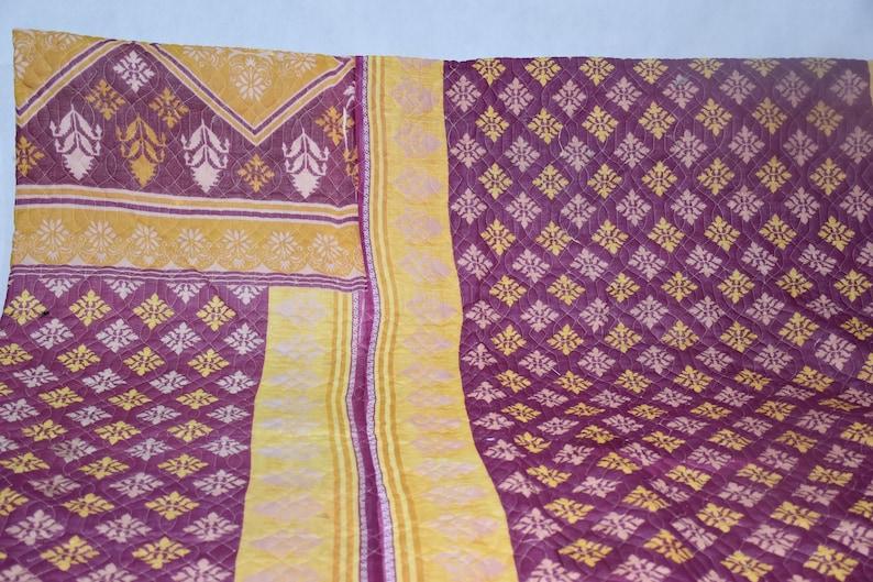 One Of Kind Indian Old Sari Vintage Quilt,Handmade Quilt Rajasthani Quilt,Jaipur Quilt,Quilts Pattern,Indian Cotton Bohemian Vintage Quilt