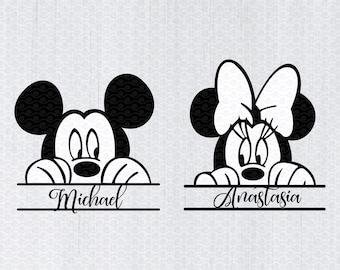 Disney Monogram Svg Etsy
