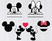 Mickey Mouse Svg, Mickey Monogram Svg, Minnie Mouse Svg, Minnie Monogram Svg, Mickey Monogram Svg, Svg files for Cricut, Silhouette